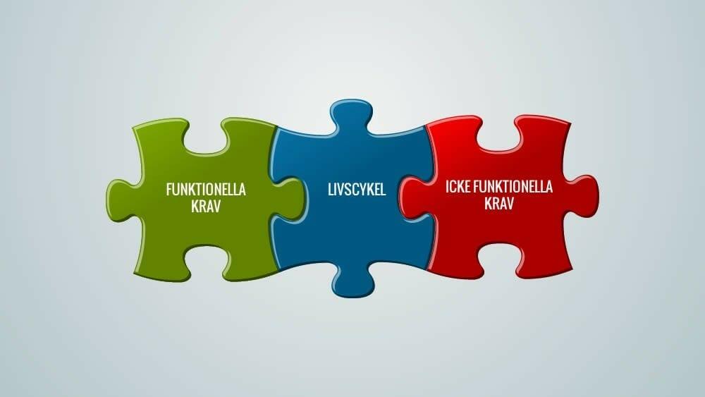 Livscykelperspektiv vid utveckling i projekt som t ex funktionella och icke funktionella krav